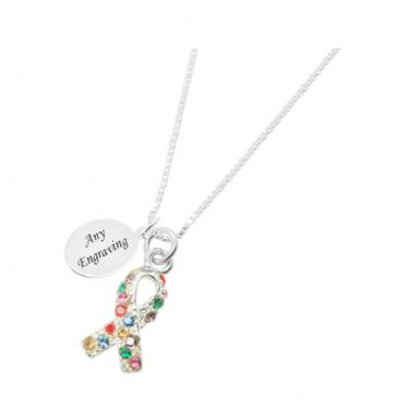 Autism Awareness Necklace with Engraving | Someone Remembered